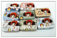 Metal Eco Friendly Sundries 30pcs lot free shipping lovely pure girl small tin box gift tin box mint tin box