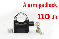 Wholesale Alarm padlock dB Siren Bike Lock Anti theft Lock Bicycle Burglar proof Padlock Electric Lock Automatic Lock