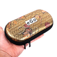 Wholesale Glaze and Colours Big eGo Case with Zipper E Cig Pocket E Cigarette Box Electronic Cigarette Case for Traveling a via DHL
