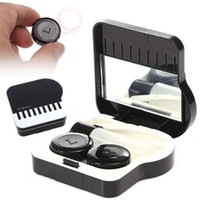 Contact Lens Kit assorted storage box - Piano Desgin Case Plastic Contact Lens Mate Box Case Color Assorted