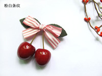 Wholesale NEW korean style kids girl Princess cherry Hair Clips hair accessories hairgrips fashion cute cherry Hair Clip for girls C7026