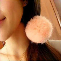 Wholesale Fashion Style Fur Ball Rope Multicolor Hair Band Elastic Hair Bands Jewelry Gift C0920