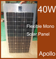 Wholesale 40W Semi Flexible Solar Panel Kit Module Monocrystalline Silicon Photovoltaic Panels Solar Cells DIY Waterproof Power Generating System
