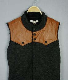 Wholesale Hottest Men Vests Winter New England Style Plush Lining Casual Wave Cotton Warm Men Vest SF07