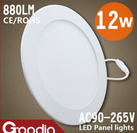 2835 Surface Mounted Round 2835SMD 12W LED Panel lights AC 90V-265V Round led Panel Light side glow Kitchen Lighting