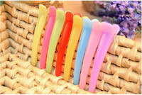 Wholesale 100pcs simple hairpin beak clip jelly clip plate made of special partition clip Barrette
