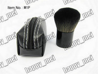 Wholesale ePacket New Makeup Blusher Brush Brush With Leather Bag