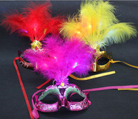 Wholesale 2013 Hot Sale New Masquerade masks trophonema cardan dance party colored drawing feather mask FREE HIPING
