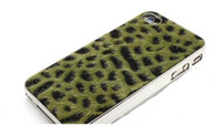 Leather For Apple iPhone For Christmas Wholesale - leopard print For ipone 4 4S 5, samsung9100, N7100, 9220, 9100 Cell Phone, high quality. mix order, Free shipping by DH