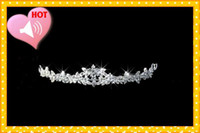 Crown Silk Flower  High Quality 2013 Romatic Flower crystal Rhinestones Fashion Best Sell Crown Tiaras Hair Accessories Wedding Shiny crowns Bridal Accessories