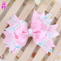 Wholesale Easter Baby Bow Clips Baby Alligator Clips Cute Hairbows Itty Bitty Hair Clips Baby Flower Clip Hairpin Hairgirps
