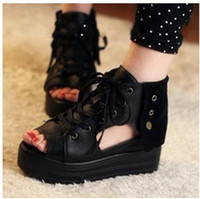 Wholesale Platform shoes sandals Factory Direct Fashion Girl Platform shoes