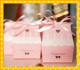 Wholesale 2015 Fashion Coral Pink Peach color Best High Quality Fashion Cheap Wedding Bridal Favors Candy Party Boxes Favor New Best Sale