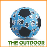 Wholesale Hand Stitched Soccer Color Skull Adult Professional official size5 Rubber Football Equipment