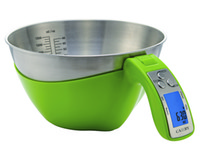 Digital Kitchen Scale Metal ECO Friendly 5kg Camry Digital Kitchen Scale Kitchen Gadgets Measuring Tools with 1500ml Stainless Steel Bowl