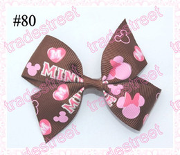 Free shipping fashion new style 80pcs 2.5'' mix colors Girls Boutique hair clips wing hair bows