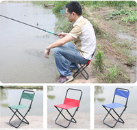 Wholesale Folding Beach Chairs Special Fishing Stool Bold Metal Rod Thicken Waterproof Canvas Outdoor Sports Tools Furniture