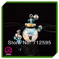 Wholesale Murano glas necklace essential oil perfume bottle necklace ball shape cheap necklaces