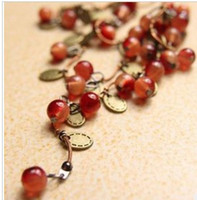 Wholesale amp choke a small pepper Korean style sweet cherry necklace female