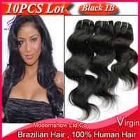 Wholesale Virgin Remy Brazilian Hair Weave Bundles Same Lengths Human Wavy Hair Extensions Natural Black Color Machine Weft quot quot