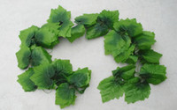 Wholesale 1PCS meter Artificial grape green leaves vines fake plants for Wedding Party Home Decoration gift craft DIY hanging
