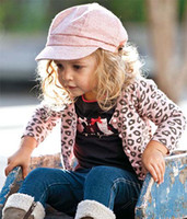 2T-3T Girl Spring / Autumn Kids Outfits Leopard Print Coats Baby Sets Infant Casual Pants Skinny Jeans Girl Suit Toddler Clothes Fashion Wear