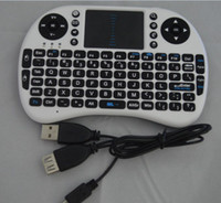 Wholesale HOT selling G Wireless Qwerty wifi keyboard with touch pad Air flying squirrel mouse for phone pad PC Smart TV