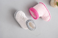 Crochet baby snow booties first walker shoes color matching ...