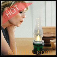 Wholesale Creative Design USB Powered LED Blowing On Off Candle Lamp Mood Light Air Kerosene Lamp