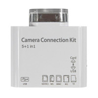 Wholesale in USB Camera Connection Kit for Ipad Card Reader SD Micro SD Card Reader with