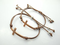 Wholesale New Jewelry Brown Tone Metal Sideways Cross Bracelets Rihanna Celebrity Jewelry