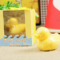 Wholesale EMS Lovely mini Duck Soap Baby Shower soap Scented wedding Favors Soap festival party birthday gifts