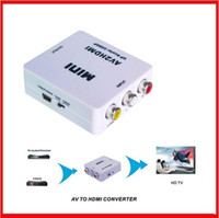 Wholesale Mini HDMI to AV Signal Converter for TV VHS VCR DVD HDMI TO RCA
