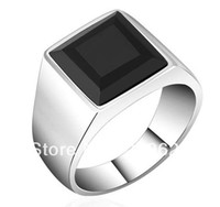 Wholesale High Quality Stainless Steel Titanium and Mens Onyx Ring Last Forever Ring