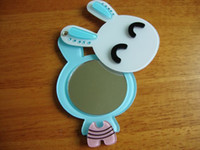 Wholesale rabbit bunny rotatable mirror can be used on the back cover of iPhone amp retail hidden great gift for girls