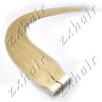 Wholesale set quot quot Tape Skin in Remy Human Hair Extensions light blonde set