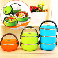 Wholesale Stainless steel heat preservation lunch box multi layer insulation bucket portable lunch box