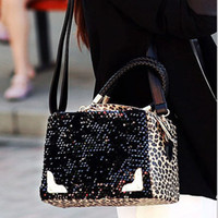 Wholesale Fashion Women Bag New Bag Nightclub Lady Handbag Leopard Grain Sequins Bag Shoulder Bag BW0785