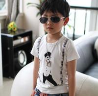 5T-6T Round Neck Boy 2013 boys clothes pattern boys t-shirt cotton round neck short sleeve shirt boys kids children wear
