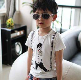 Wholesale 2013 boys clothes pattern boys t shirt cotton round neck short sleeve shirt boys kids children wear