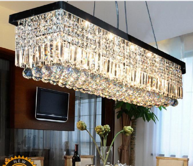 Length 100cm Modern LED Crystal Pendant Light Ceiling Lamp – Led Light Chandelier