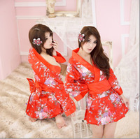 Wholesale Lady Ethnic Clothing Japanese sexy kimono clothes sauna waiter wear studio personal personal photo apparel lingerie factory QQ19