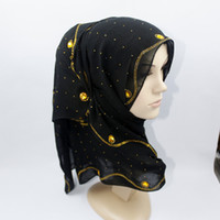 Wholesale Muslim supplies new personalized fashion hot drilling long paragraph Muslim hijab scarf shawl women Muslim headscarf
