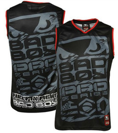 Wholesale man vest Bad Boy Jersey Tank Fight tops black W005