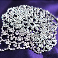 Wholesale Shiny Rhinestone Bridal Bracelets Silver Plated Lobster Clasp Women Bracelets Armbands Fashion Wedding Jewelry Bridal Accessories