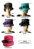 organza church hats - Sinamay Organza Church Hat for wedding races BY EMS colors can pick color