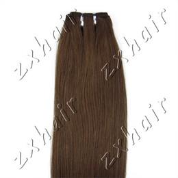 "20""Length 150cm Wide Weft Human Hair Extension #04-medium brown,100g"