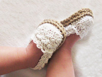 Crochet baby sandals first walker shoes infant slippers deli...