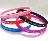 Unisex Party Silicone 1Type 1Diabetic Insulin Dependent 5 Colors Jelly Brecelets Boy Girl Sports Wristbands Via Chinapost