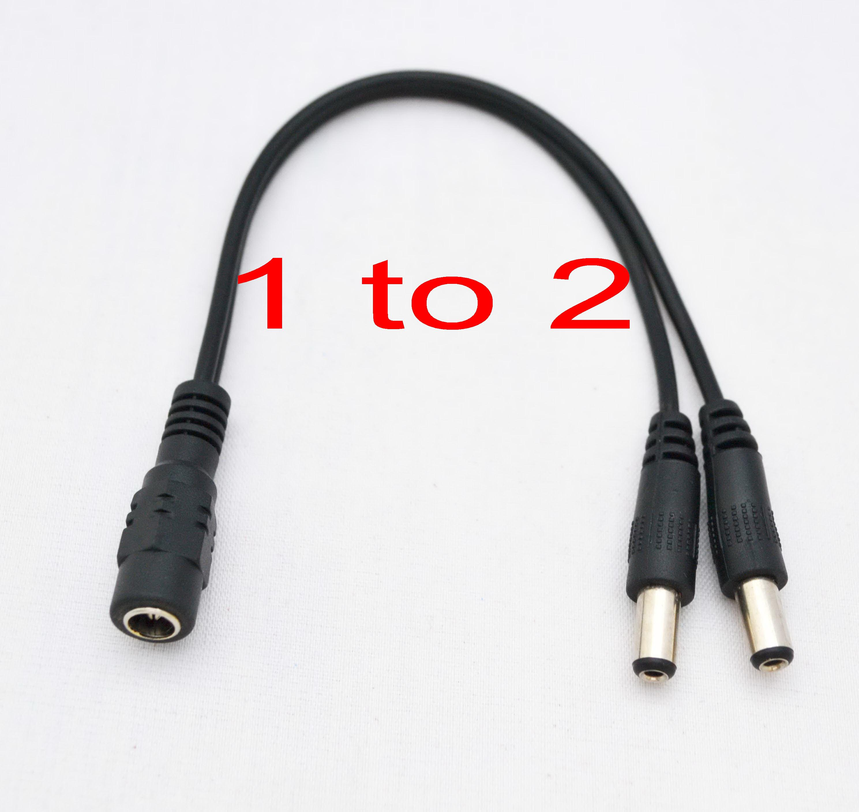 100 New Dc Power 5 5x2 1mm 1 Female To 2 Male Plug Cable